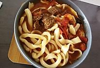 西红柿牛肉拉面的做法