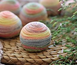 彩色蛋黄酥:的做法