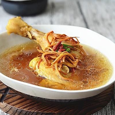 虫草花炖鸡汤【九阳铁釜饭煲】