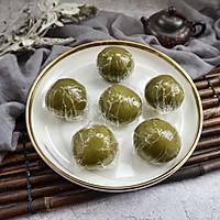 网红青团-咸蛋黄肉松青团的做法图解27
