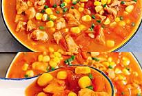 减肥期间必吃的减肥餐!茄汁玉米鸡胸肉的做法