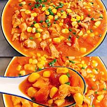 减肥期间必吃的减肥餐!茄汁玉米鸡胸肉