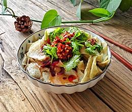 天津传统早餐-锅巴菜#回到家乡味(津)#的做法