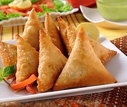 印度名吃-咖喱角Samosa,好吃又简单的三角形春卷的做法
