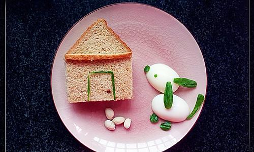 小房子三明治的做法