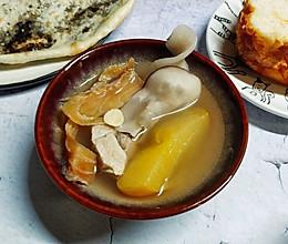 鳄鱼肉干海底椰汤的做法
