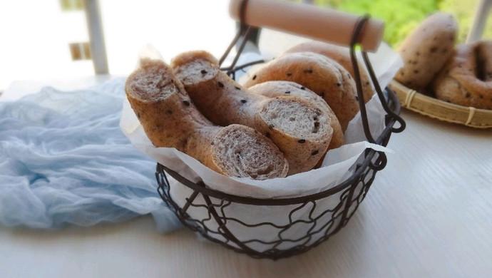 #父亲节,给老爸做道菜#黑麦芝麻贝果(无糖版)