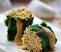 芝麻菠菜卷的做法