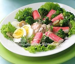 蟹柳蔬菜沙拉的做法