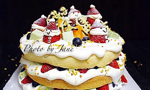 小雪人裸蛋糕的做法