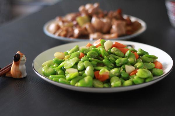 素炒蚕豆米的做法