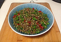 肉沬炒泡豇豆的做法