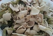晓麻菜炒黄喉的做法