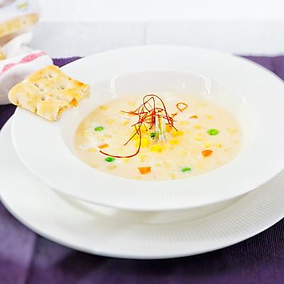 玉米鸡胸汤(减脂健身系列)