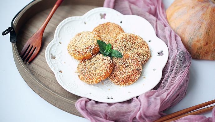 豆沙馅南瓜饼#馅儿料美食,哪种最好吃#