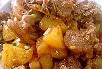 菠萝炒鸭的做法