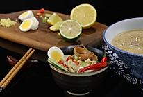 缅甸椰子鸡汤面的做法