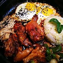 蕾蕾の韩式鸡肉时蔬饭+大酱汤(简易)