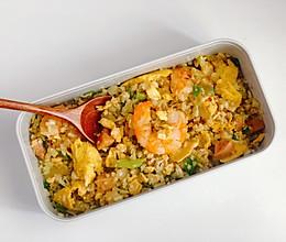 减脂无米炒饭-鸡蛋虾仁炒饭的做法