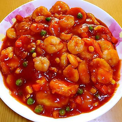 虾仁茄汁日本豆腐