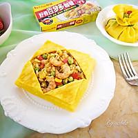 鹰爪虾咖喱蛋包饭#百梦多Lady咖喱#