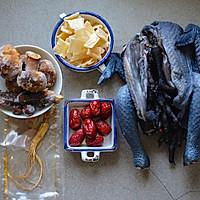 西洋参鱼胶乌鸡汤的做法流程详解1