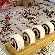 #晒出你的团圆大餐#蜂蜜紫薯山药卷