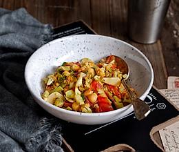 鹰嘴豆番茄烩双花饭#网红美食我来做#的做法