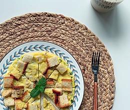 #麦子厨房#小红锅#蒜香吐司鸡蛋饼的做法