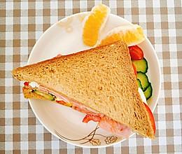 全麦火腿三明治的做法