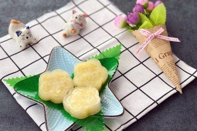 广式茶点-奶皇晶饼