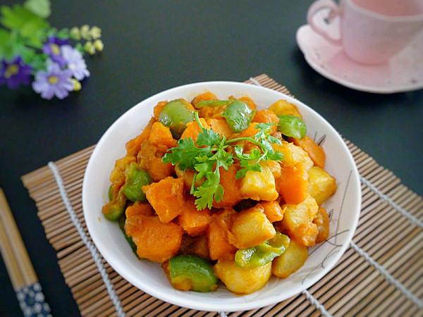南瓜炖土豆的做法