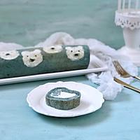 蝶豆花小熊日式棉花蛋糕卷的做法图解21