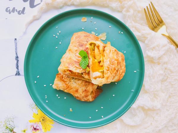 #秋天怎么吃#焦脆鲜香—南瓜鸡肉酥派的做法