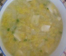 娃娃菜豆腐汤的做法