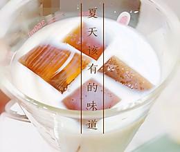 夏季清凉饮•牛奶茉莉花茶冰粉的做法