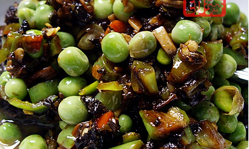 豌豆炒酸菜的做法