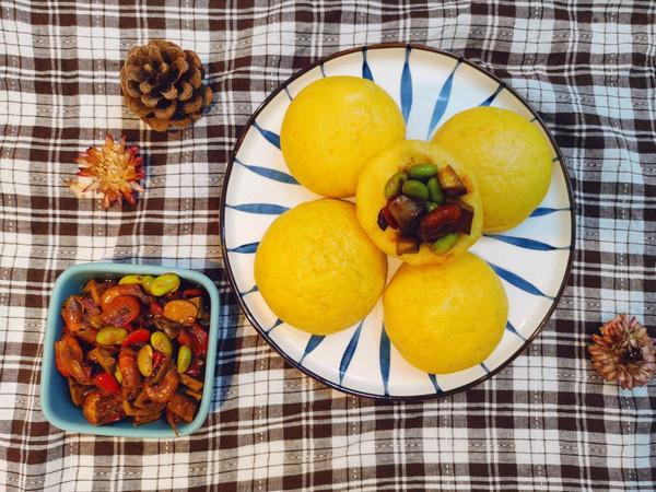 毛豆虾米杂酱配窝头——解锁玉米面窝窝头新吃法的做法