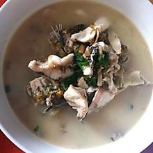 咸菜笋片黑鱼汤