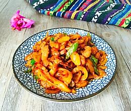 菠萝蜜炒肉丝的做法