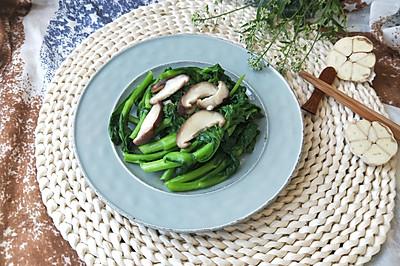 蒜泥香菇菜苔(春天的馈赠,减肥养身必备)