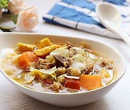 牛腩蔬菜汤的做法