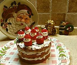 草莓雪人蛋糕的做法