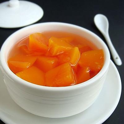 早春清润养颜糖水——清炖冰糖木瓜