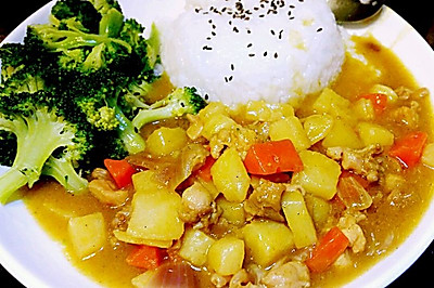 李孃孃爱厨房之一一鸡肉咖喱饭