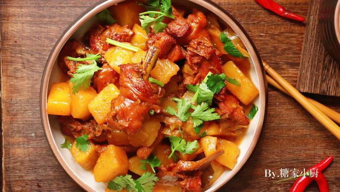 浓香下饭菜—红烧鸡肉炖土豆