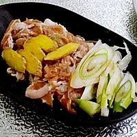 酸菜羊肉盖拌面的做法图解3