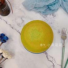 菠菜酸奶斑马纹蛋糕