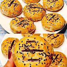 ✨无需揉面❗️咬一口酥到掉渣的紫薯饼