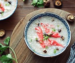 开胃补钙的蟹柳豆腐粥的做法